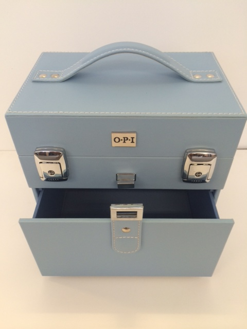 OPI Blue manicure case