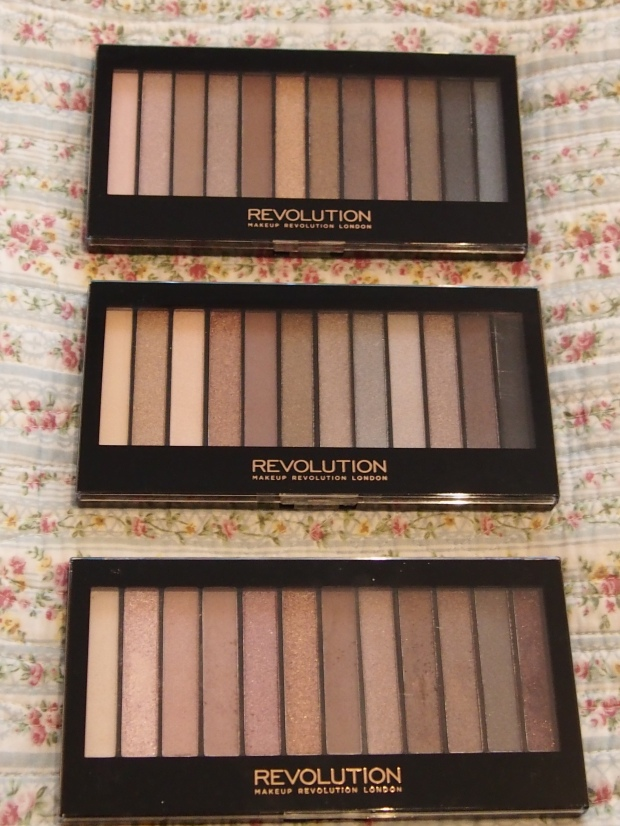 Make-up Revolution Iconic Palette 1, 2 and 3