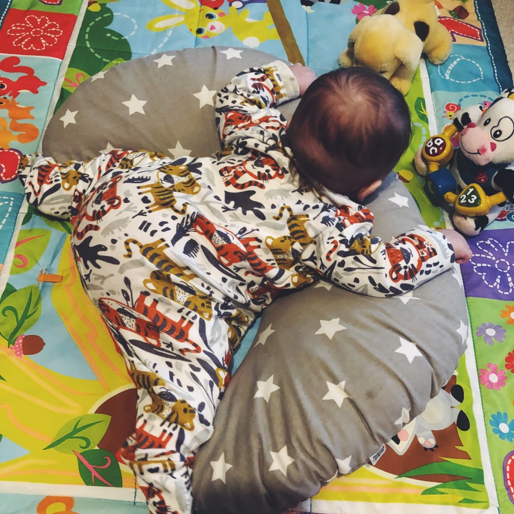Tummy time in a pavlik harness