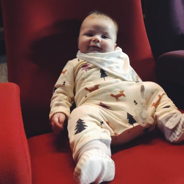 Baby at a cinema