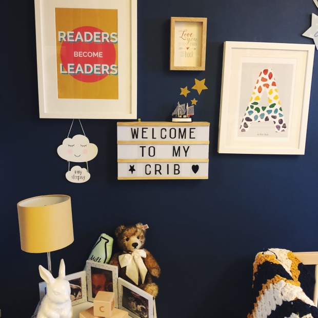 Navy wall frames