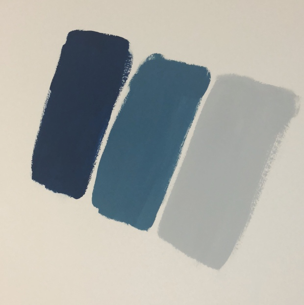 Valspar baby teal and grey swatches