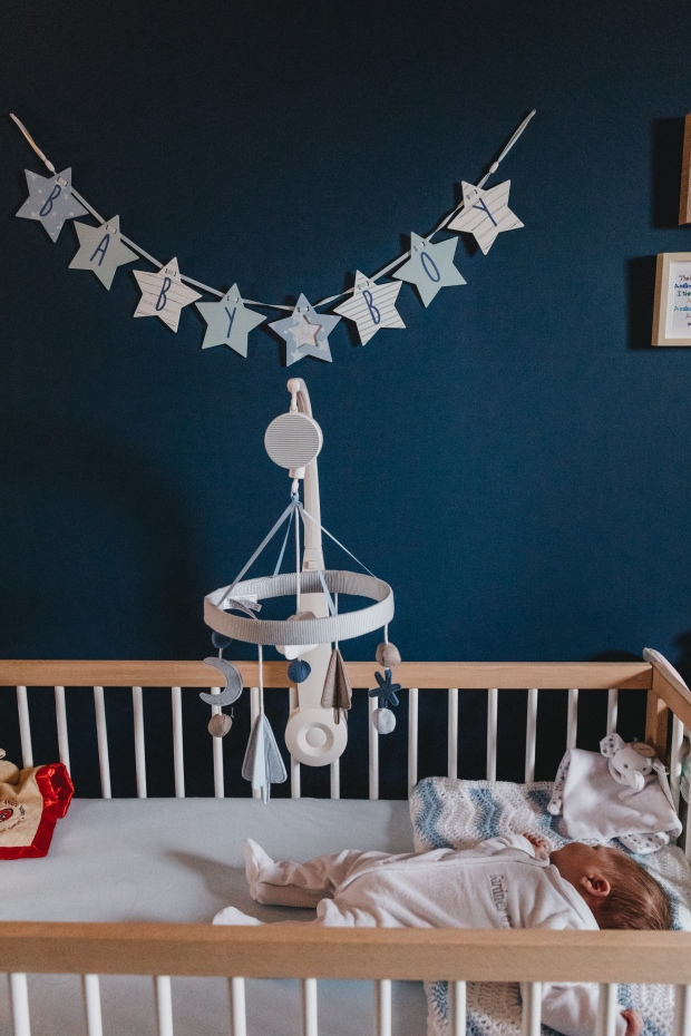 Baby boy navy nursery