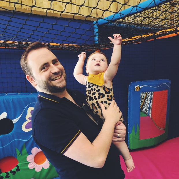 Dad and baby soft play