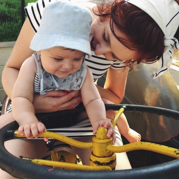 Baby mum tractor