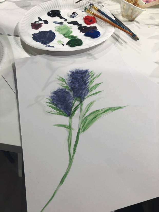 Painting of a thistle